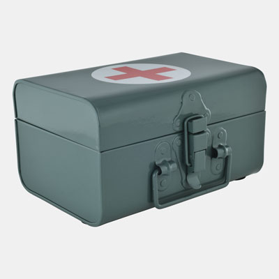 RECTANGULAR FIRST AID BOX