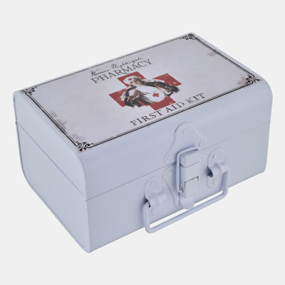 RECTANGULAR FIRST AID BOX W/MULTI COLOR PRINTING